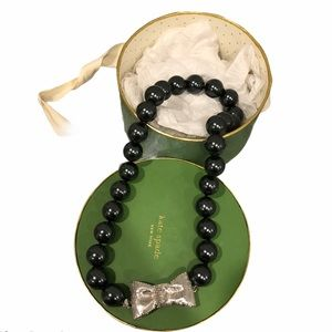 Kate Spade All Wrapped Up Glass Pearl Necklace